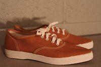 4.5 NOS Vtg 70s Pointed Toe Dark Gold CANVAS TENNIS Gym SNEAKER USA Skamps Shoe