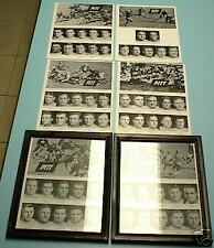 6 1937 PITT PANTHERS FOOTBALL TEAM FRAMED COLLAGES