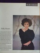 1987 Holly Hunter Talks About Her Year - Rolling Stone Magazine Page