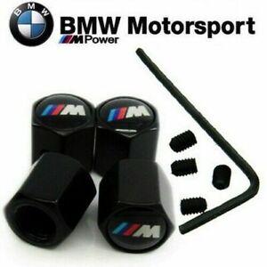 4 x TAPONES NEGROS PARA VALVULAS DE NEUMATICO ANTI ROBO PARA BMW M MOTOSPORT B01