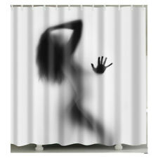 1 Pc Waterproof Female Lady Woman Shadow Shower Curtain for Home & Bathroom