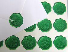60 Celtic Knot Wax Seal Effet Enveloppe Autocollants Irlandais Écossais Gallois Breton (031)