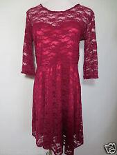 Stretch robe Mini-robe ASOS taille 10 env. 36 s m Dentelle Fuchsia Bordeaux tip top/c5