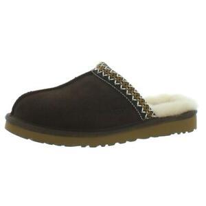 Ugg Australia Womens Netta Brown Slip-On Slippers Shoes 6 Medium (B,M) BHFO 0616
