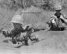 "Marines wading through river near DaNang 8""x 10"" Vietnam War Photo Picture #30"