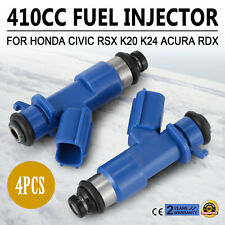 Set 4*Denso Fuel Injectors RDX 410cc 16450-RWC-A01 For Honda Acura 96-06 Cool