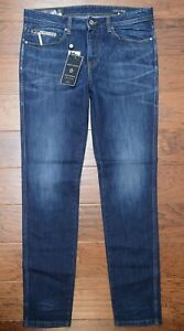 Made in Italy Armani Exchange $260 A|X Men Tapered Fit 100% Cotton Blue Jeans 31