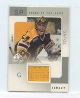 BRYON DAFOE 2000-01 UPPER DECK SP GAME USED TOOLS OF THE GAME GAME-USED JERSEY