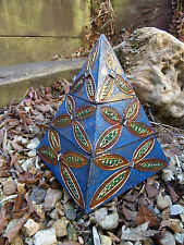 Fair Trade Hand Made Carved Wooden Girls Pyramid Trinket Ring Jewellery Box