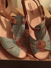 Pikolinos Women's Soft Green Sandal, Leather, Style:Brandy, size: 41, NIB