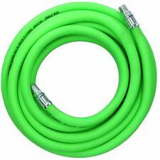 "10m Air Hose 1/4"" BSP Male Threads Soft Rubber High Visibility Compressor Line"
