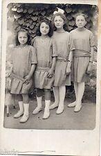 BK976 Carte Photo vintage card RPPC Enfant fillette groupe ordre croissant