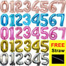 """GOLD/SILVER/rose gold  30"""" inch Number 0-9 Foil Balloons Birthday Party Balloon"""