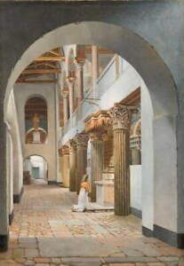 Christoffer Wilhelm Eckersberg View of the Church Poster Giclee Canvas Print