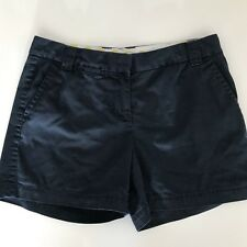Ladies J.Crew flat front navy blue city fit chino short size 6