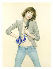MILLA JOVOVICH SIGNED 8 x10 PHOTO COA N.A. # 309026