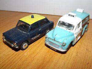 CORGI POLICE CAR & A  VANGUARD HM COASTGUARD HILLMAN IMP