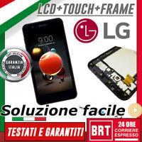 DISPLAY LCD+TOUCH SCREEN+FRAME ORIGINALE PER LG K9 2018 LM-X210EM VETRO SCHERMO!