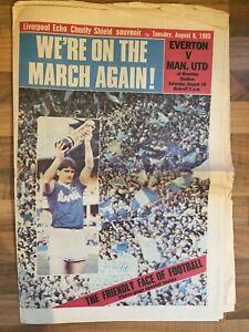 Manchester Utd - 1985 Charity Shield v Everton  Souvenir Newspaper
