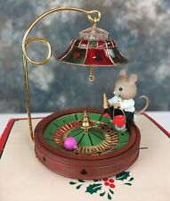New ListingEnesco Joy to the Whirled Ornament 4th in Christmas Casino Series Mouse Roulette
