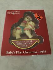 American Greetings Baby's First Christmas 1993. Tree Ornament.