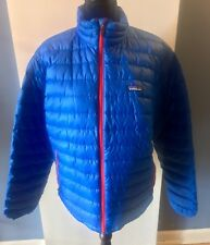 PATAGONIA Male Blue w/ Red Lining Insulated Down Puffer Jacket - Size Medium (M)
