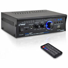 NEW Pyle PCAU48BT 2 x 120W Bluetooth Audio Stereo Power Amplifier
