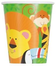 ANIMAL JUNGLE PAPER CUPS PACK OF 8 BIRTHDAY PARTY TABLEWARE SUPPLIES