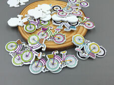 20PCS Mixed Bicycles Sewing Wooden Buttons Scrapbooking Crafts Decorations 32mm