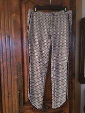 Free People Black/white Pants Knitted Size 2 (medium)