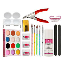 Pro Nail Art Kit Set Acrylic Powder Clearser Plus Brush Sanding File Tools Sets