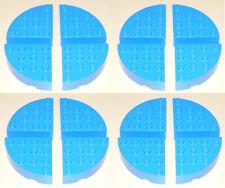Lego 16x Blue Round Corner Brick 4x4 (id 2577) Legos