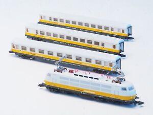 8128 Marklin Z-Scale Lufthansa Airport Train Commuter Set w/ cl 103 locomotive