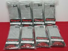 SNAP ON TOOLS 8 PAIRS OF GREY SOCKS SIZE LARGE (7-12) BRAND NEW 100% GENUINE