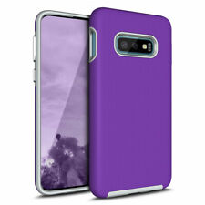 For Samsung Galaxy S10E Hard Back Soft Silicone Armor Drop Protection Case Cover