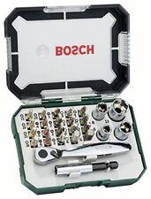Bosch Llave de Carraca Conjunto de 26 Unidades Herramienta Atornillar Tornillos