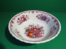 Mason's England Fruit Basket Red Multicolor Round Vegetable Bowl