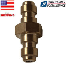 Paintball Pcp Air Copper 8mm Quick Release Disconnect Coupler Doulbe Male Plug