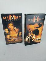 The Mummy and The Mummy Returns VHS Video Cassette Tapes Starring Brendan Fraser