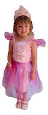 Girls Kids Babies Fairy Dress Costume Cosplay Pink Organza