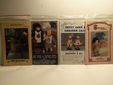 Lot of 4 Craft Patterns Assorted uncut in original packages