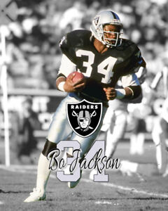 Oakland Raiders BO JACKSON Spotlight Unsigned Photo 16x20 #1