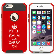 For iPhone X SE 5s 6 6s 7 8 Plus Shockproof Impact Hard Case Keep Calm Carry On