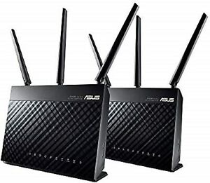 ASUS RT-AC68U AC1900 Dual-Band Mesh Wi-Fi System 2 Pack Wireless Router, Access