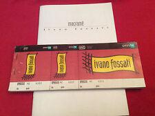 IVANO FOSSATI - MACRAME' PROGRAMMA DI SALA  e BIGLIETTO DI INGRESSO TOUR '96