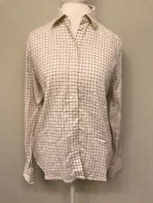 Lauren Ralph Lauren Button Front Shirt Blouse Top Women's Large checked Grid
