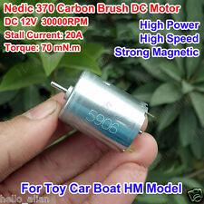 DC 12V 30000RPM High Speed&Power Magnetic Nedic 370 Motor RC Car Boat Model DIY