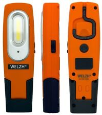 WELZH Rechargeable LED Inspection Lamp COB Work Light Super Bright 2W ORANGE