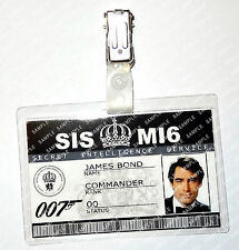 James Bond 007 ID Badge Timothy Dalton Cosplay Costume Fancy Dress Comic Con