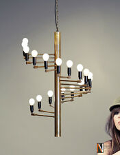18 Lights Arms Modern Brass chandelier - Gino Sarfatti Chandelier Light Fixture
